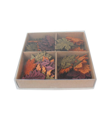 Simply Autumn Wooden Leaves Scatter Decor