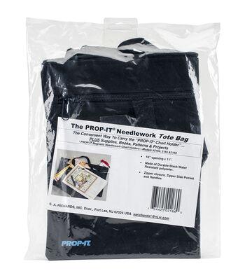 S A Richards PROP-IT Needlework Tote Bag-Black