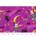 Disney Minnie Mouse Halloween Cotton Fabric-Fa-boo-lous
