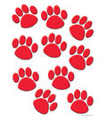 Red Paw Prints Accents 30/pk, Set Of 6 Packs