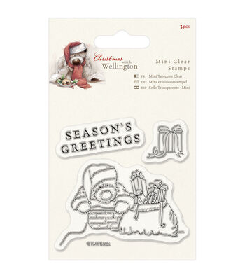 Docrafts Wellington Christmas Mini Clear Stamps-Chimney