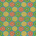 Novelty Cotton Fabric-Mixed Citrus On Aqua