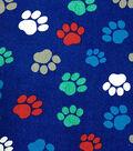Novelty Cotton Fabric 43\u0022-Paw Prints On Navy