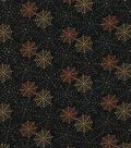 Halloween Cotton Fabric-Glitter Spider Webs