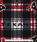 Houston Texans Fleece Fabric -Plaid