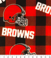 Cleveland Browns Fleece Fabric-Buffalo Plaid, , hi-res