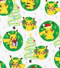 Pokemon Metallic Cotton Fabric-Pikachu Presents