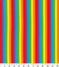 Novelty Cotton Fabric-Rainbow Stripe