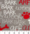 Anti-Pill Fleece Fabric 59\u0022-Bark Arf Woof