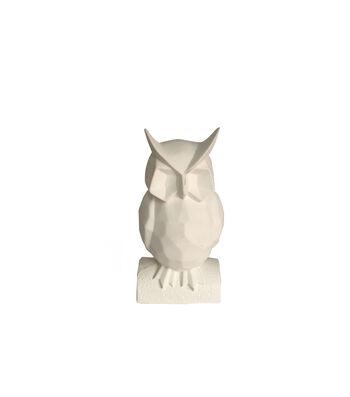 Simply Autumn Geometric Owl Decor-White