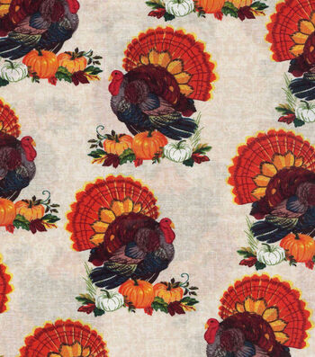 "Harvest Cotton Fabric 43""-Traditional Turkey"
