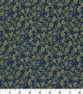 Quilter\u0027s Showcase Cotton Fabric-Delicate Floral on Hunter Green