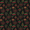 Christmas Cotton Fabric-Holiday Ornaments with Glitter