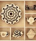 Themed Mini Wooden Flourishes-Tea Party
