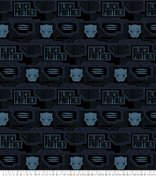 """Marvel Black Panther Fleece Fabric 59""""-Icons"""