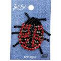 Fab Lab Wearables Rhinestone & Beaded Ladybug Iron-on Applique