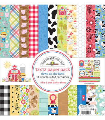 Doodlebug Design Down on the Farm 12''x12'' Double-sided Paper Pack