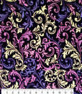 Silky Velvet Burnout Fabric 54\u0022-Burgundy Swirl