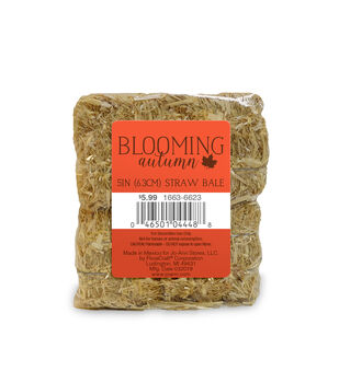 """Blooming Autumn 5"""" Straw Bale"""
