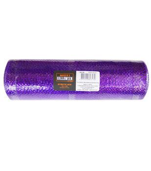Maker's Halloween Decor Metallic Decorative Mesh 10''x30'-Purple