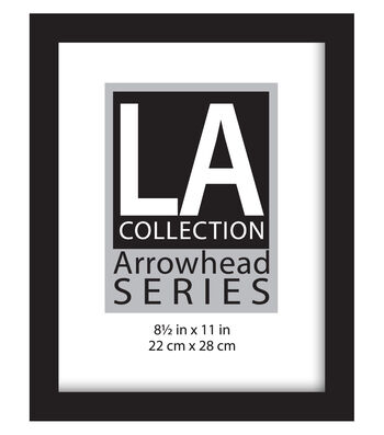 LA Collection Arrowhead Series Flat Top Wall Frame 8.5''x11''-Black