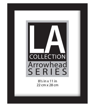 La Collection Arrowhead Series Flat Top Wall Frame 8 5 X11 Black