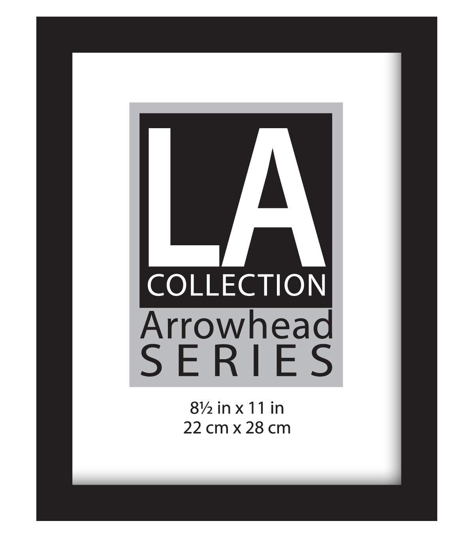 LA Collection Arrowhead Series Flat Top Wall Frame 8.5u0027u0027x11u0027u0027 Black