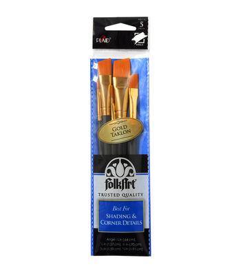 Folkart Angle 5 Pack Brush Set