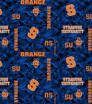 "Syracuse University Orange Fleece Fabric 60""-Digital, , hi-res"