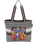 Laurel Burch Shoulder Tote 17\u0022X13\u0022 Blossoming Feline