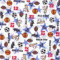 Novelty Cotton Fabric -All Star