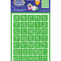 Americana 8\u0027\u0027x6\u0027\u0027 Gloss Enamels Stick-on Stencil-Curly Alphabets
