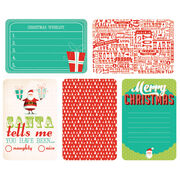 "Kaisercraft Captured Moments Double-Sided Cards December 25th 6""X4"", , hi-res"