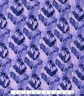 Kathy Davis Apparel Rayon Fabric -Tonal Purple Feather