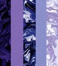 Pre-Cut Quilt Fabrics 18\u0022x21\u0022-Purple Oil Slick