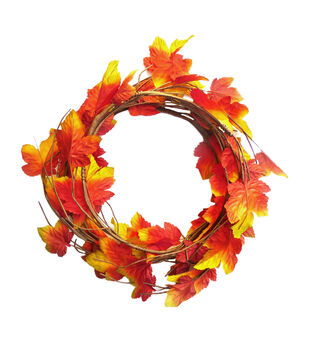 Blooming Autumn 66'' Coiled Maple Leaves Garland