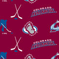 Colorado Avalanche Fleece Fabric -Tossed