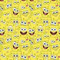 Spongebob Fleece Fabric-Spongebob Packed