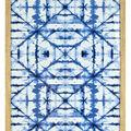 Shibori Printed Wall Decor 16\u0027\u0027x20\u0027\u0027-Blue