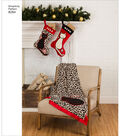 Simplicity Pattern 8284 Holiday Stocking, Skirt, Throw, Cat Bed & Toys
