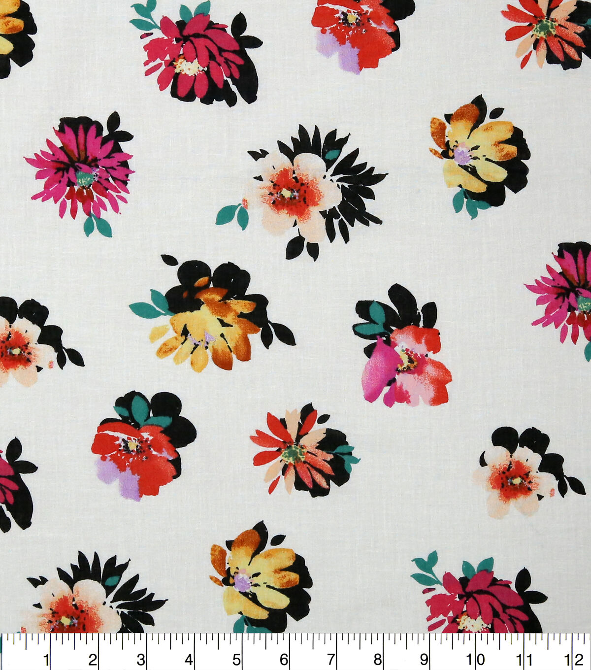 Polycotton Fabric NEW Craft Metre FLORAL FLOWER PINK Material Special Offer