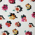 Specialty Cotton Gauze Fabric-Ivory & Pink Floral