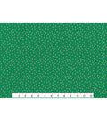 Christmas Cotton Fabric 43\u0022-Gold Dots Green