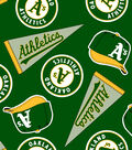 Oakland Athletics Fleece Fabric -Tossed