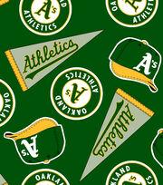 Oakland Athletics Fleece Fabric -Tossed, , hi-res