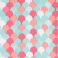 Blizzard Fleece Fabric-Coral Mermaid Scales