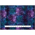 Novelty Glitter Cotton Fabric 43\u0027\u0027-Navy & Purple Galaxy