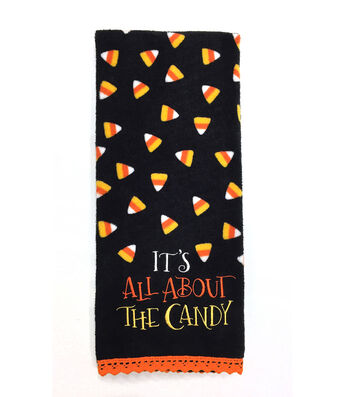 Maker's Halloween 16''x28'' Towel-It's All about the Candy