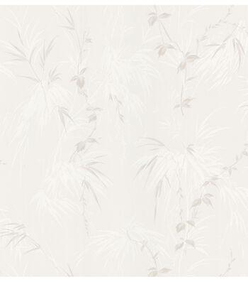 Misaki Cream Leaf Motif Wallpaper