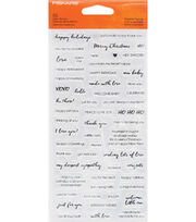 Fiskars Clear Stamps-Essential Sayings, , hi-res